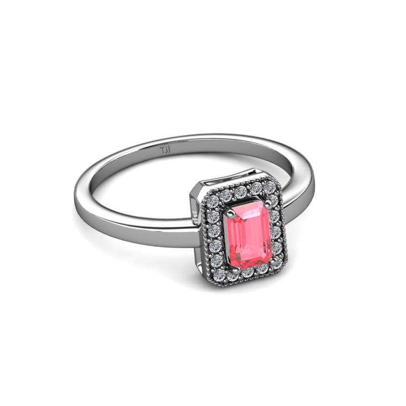 Carat Jp 109310 Ring Engagement Pink Halo Diamond