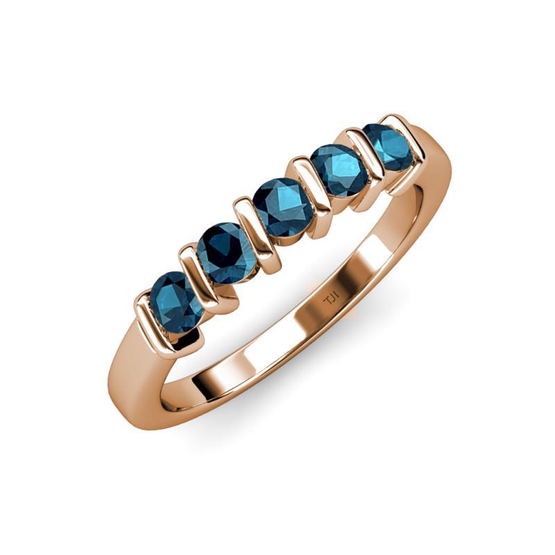talia - Blue Diamond Wedding Ring Sets