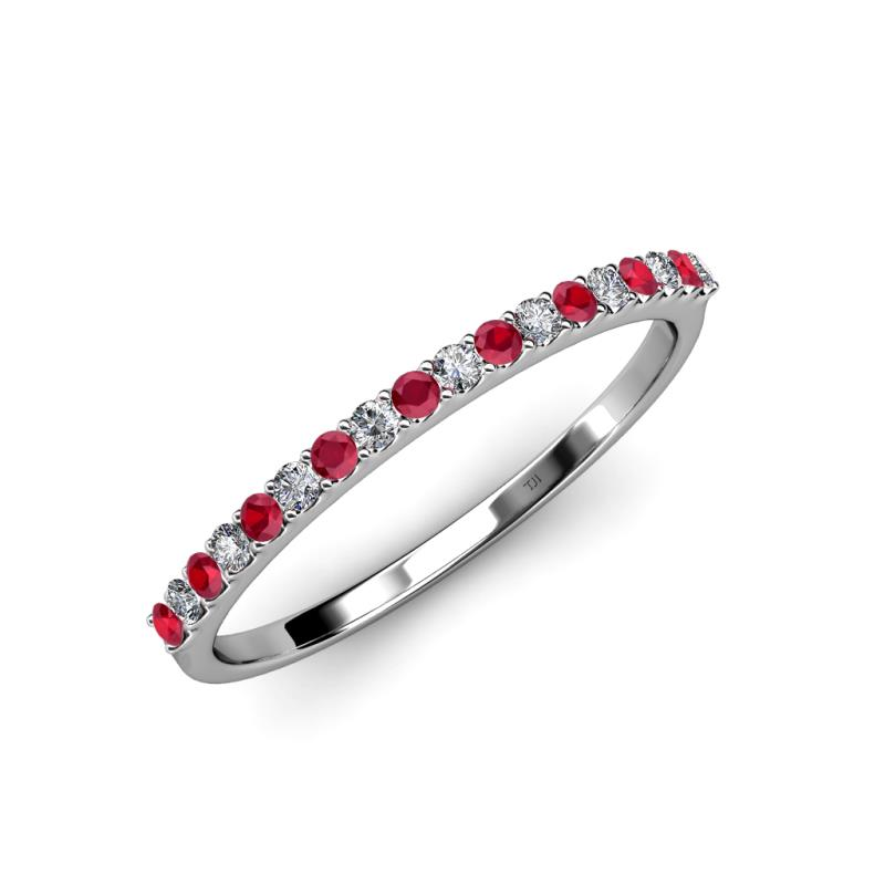 Iskra 150 mm Ruby and Diamond Wedding Band Ruby and Diamond