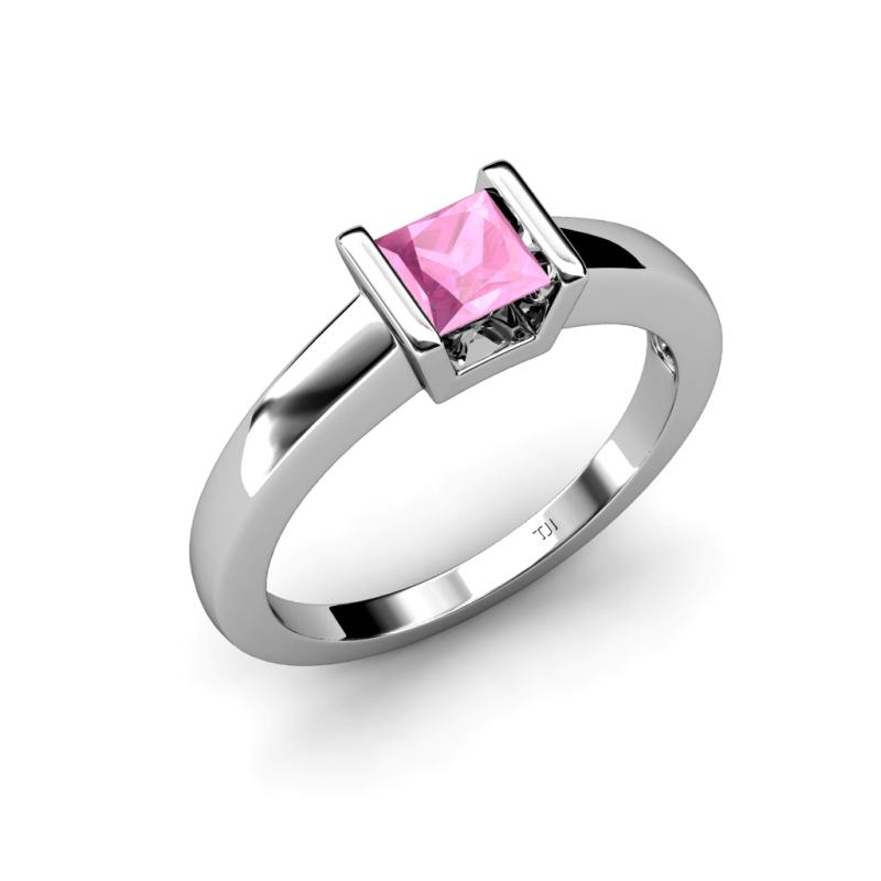 izna lab created pink sapphire solitaire ring lab