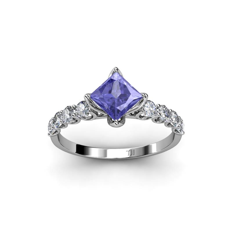 previous next - Tanzanite Wedding Rings