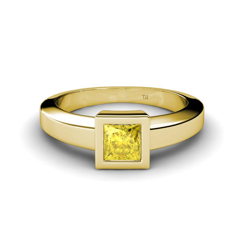 ian yellow sapphire solitaire ring lab created yellow