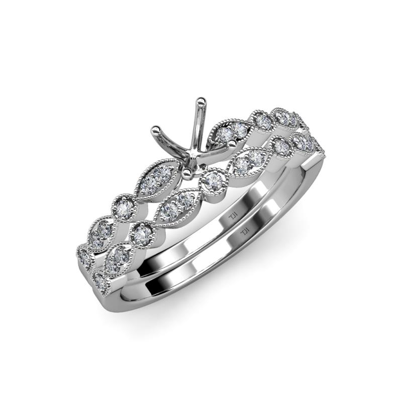 Siena Semi Mount Marquise and Dot Bridal Set Ring - Diamond Four ...