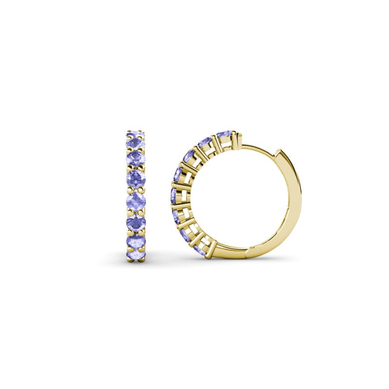 raya tanzanite hoop earrings tanzanite hoop earrings 0 55