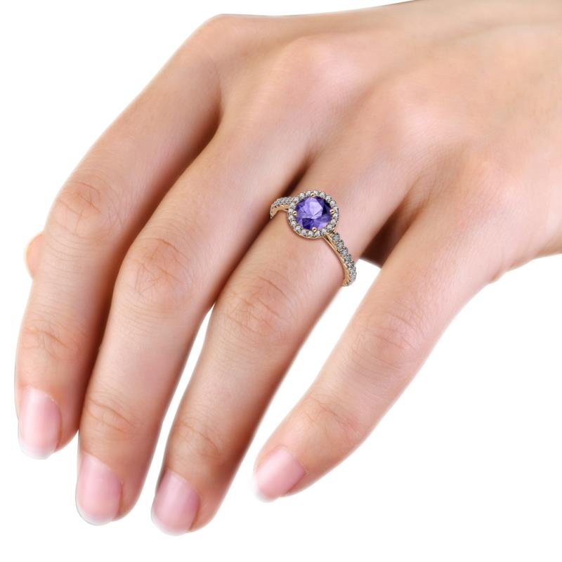 Iolite Engagement Ring
