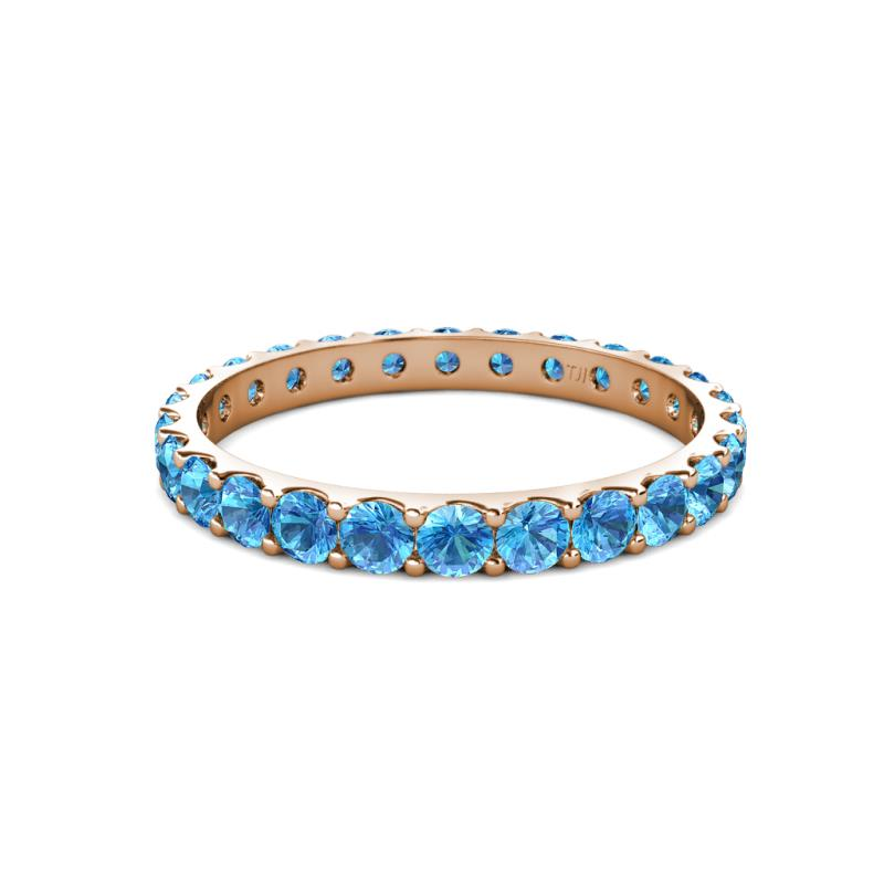 Audrey blue topaz eternity band blue topaz u prong for Audry rose jewelry reviews