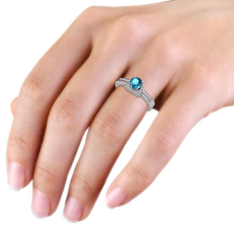 blue topaz wedding ring set Wedding Decor Ideas