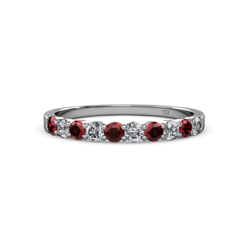 1 2 - Garnet Wedding Ring