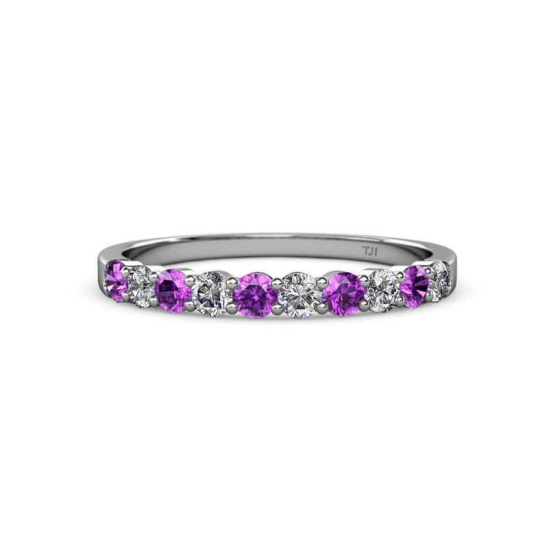1 2 - Amethyst Wedding Ring