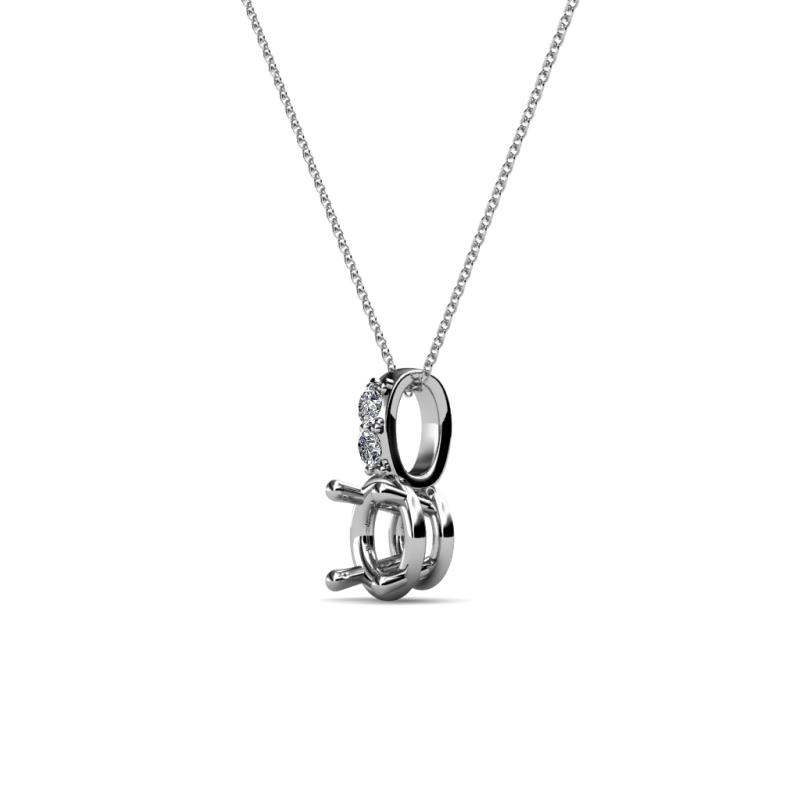 Semi mount solitaire pendant with diamond studded bail si2 i1 g h semi mount solitaire pendant mozeypictures Image collections