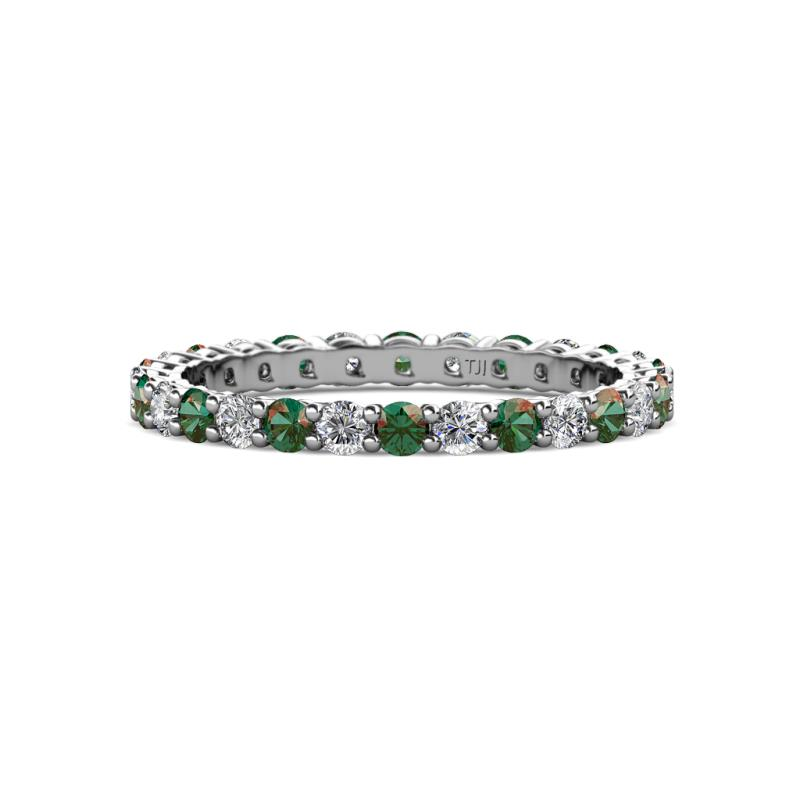 east diamond platinum bands band west cut emerald rose nicole eternity and