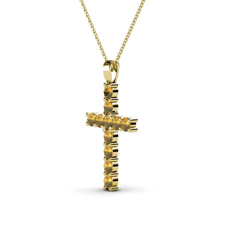 Petite citrine cross pendant 033 ct tw in 14k yellow goldcluded petite citrine cross pendant aloadofball Gallery