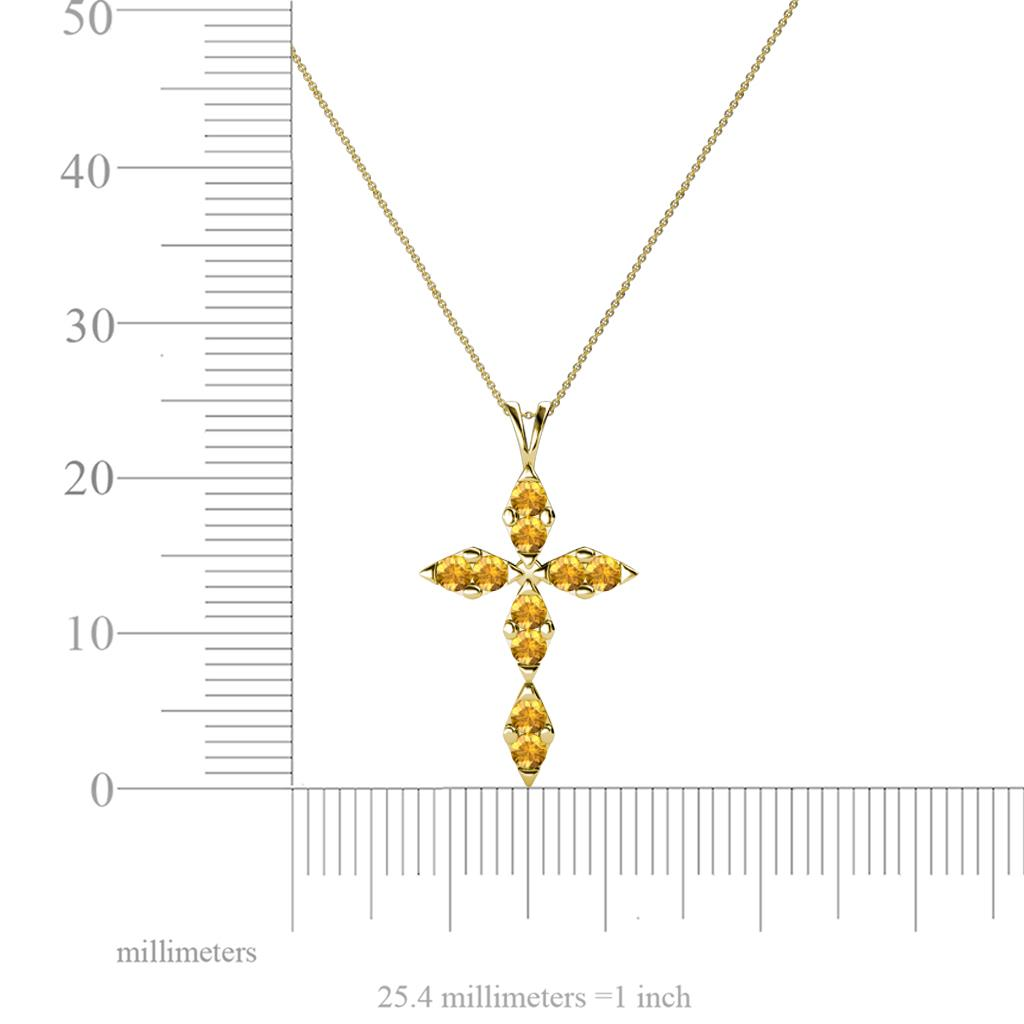 Petite citrine cross pendant 040 ct tw in 14k yellow goldcluded 375867 1360429 1362847 1362848 2147483647 aloadofball Gallery