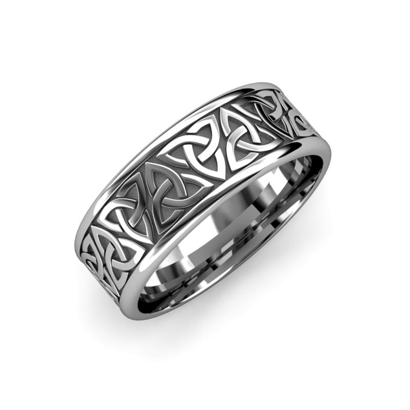 Celtic Knot Wedding Bands.High Polish 10 00 Mm Celtic Trinity Knot Wedding Band