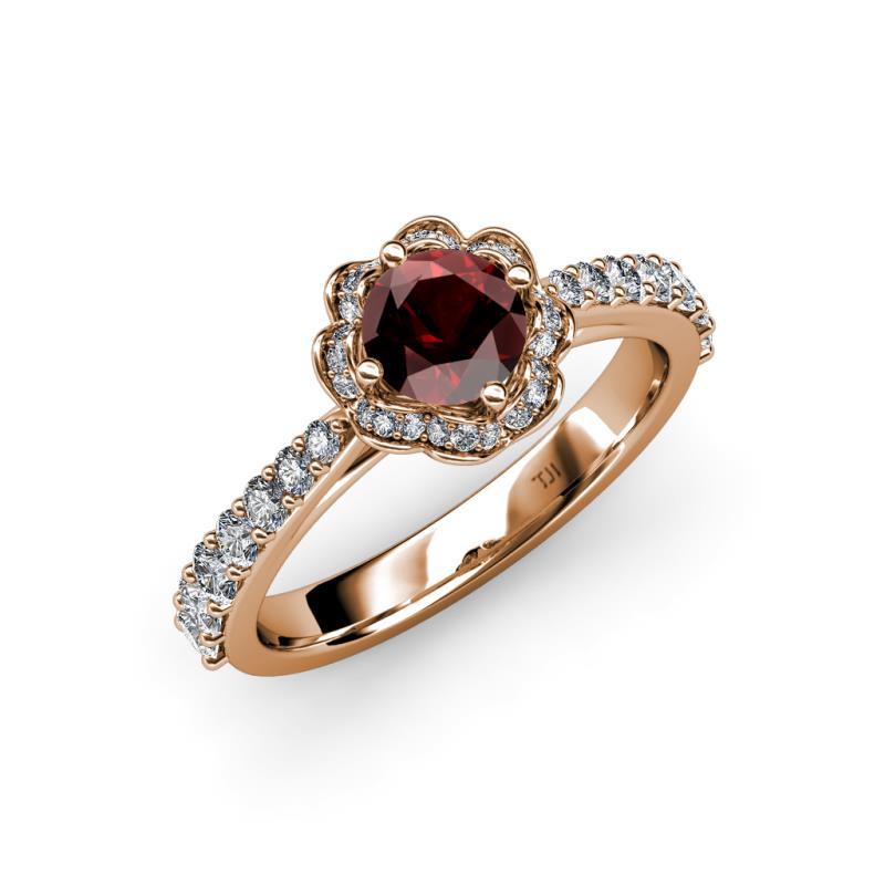 florus - Garnet Wedding Rings