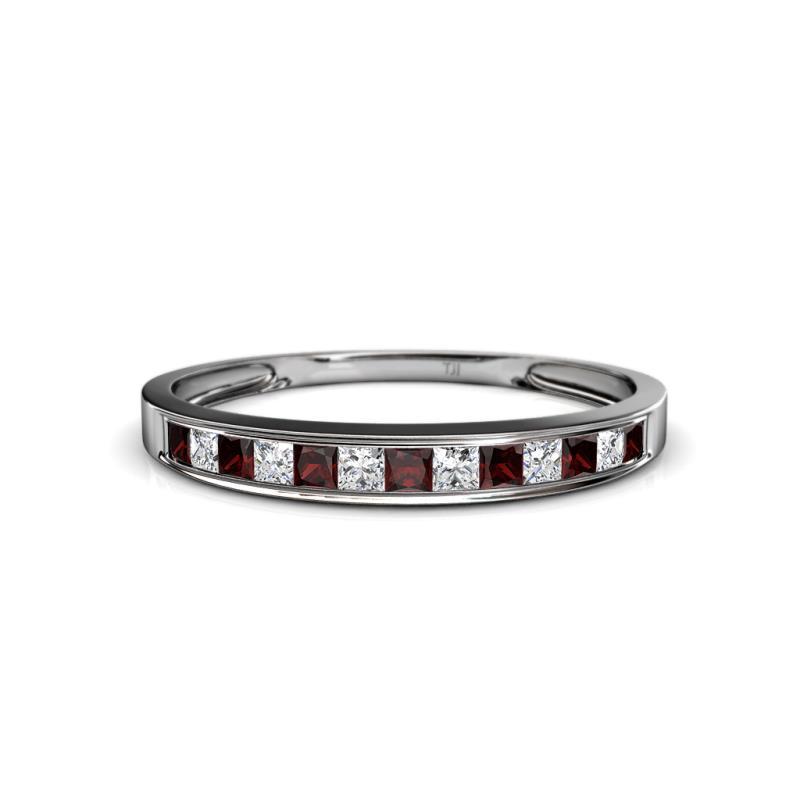 0 - Garnet Wedding Ring