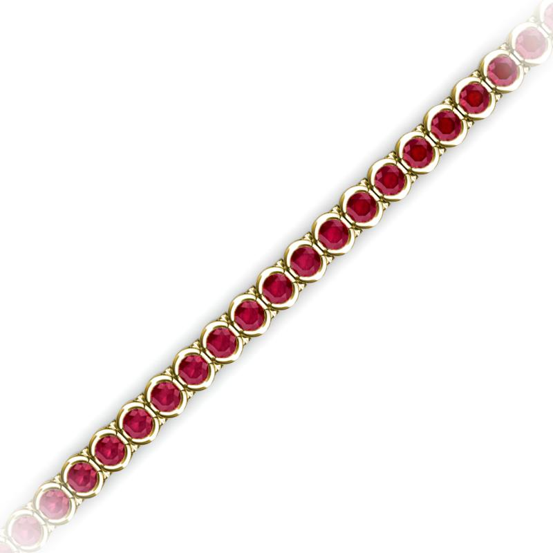 Ruby Channel Set Tennis Bracelet 4 23 Ct Tw In 14k Yellow