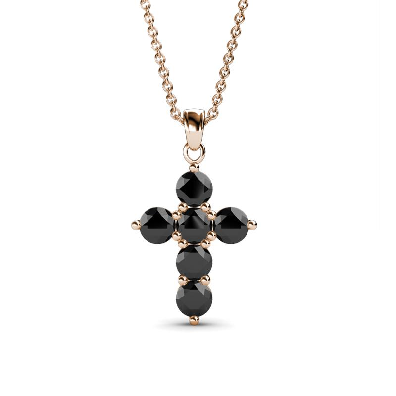 9261c35df91 Diamond Cross Necklace 1 10 Ct Tw Round Cut 10k Rose Gold. 180387. Black  Diamond Womens Cross Pendant Necklace 0 63 Ctw 14k Rose Gold