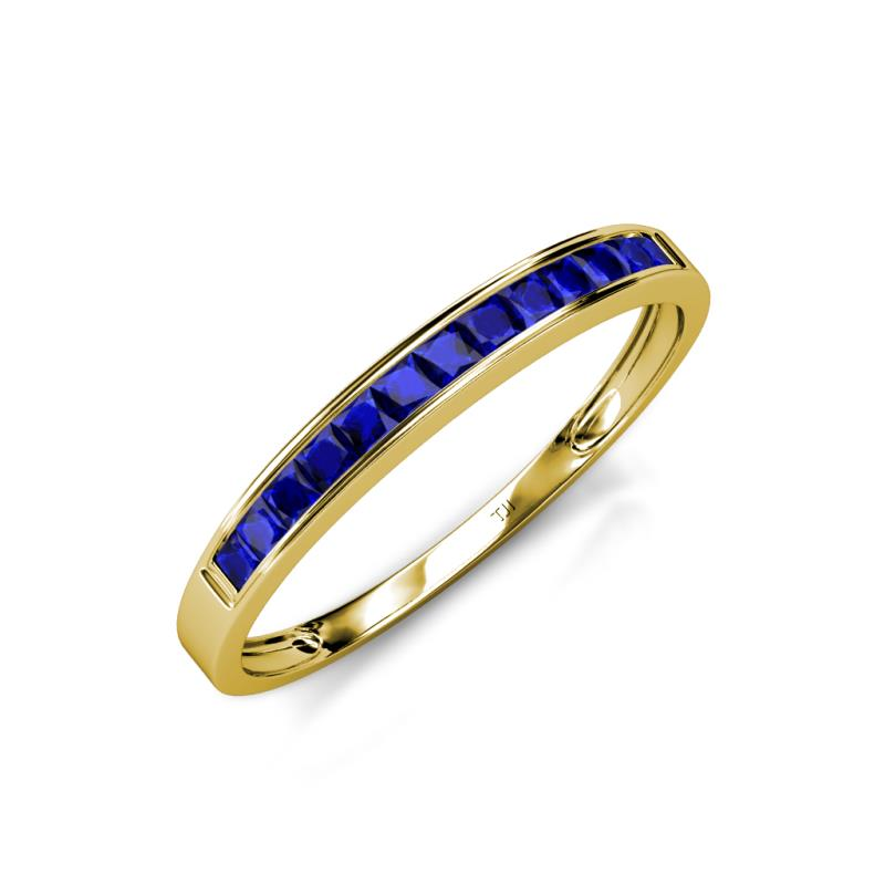 Aqilia 200 Mm Blue Sapphire Wedding Band