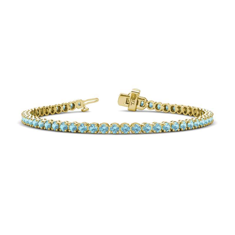 3 1mm Aquamarine Tennis Bracelet