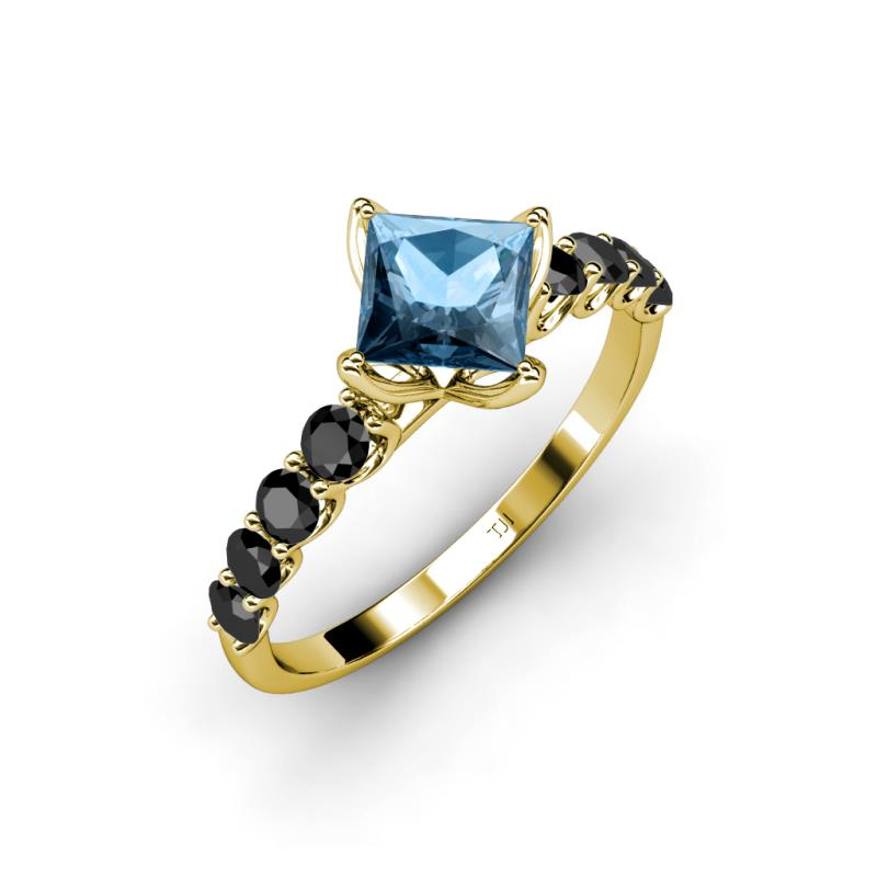 0 1 - Blue Topaz Wedding Rings