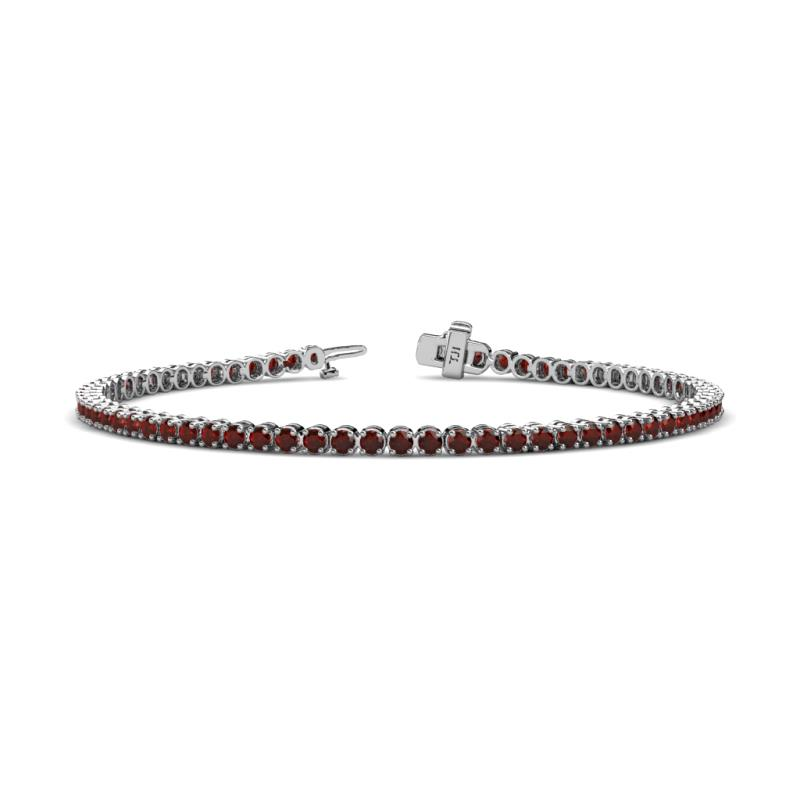 wedding ideas for december garnet tennis bracelet 2 57 cttw in 14k white gold 27764