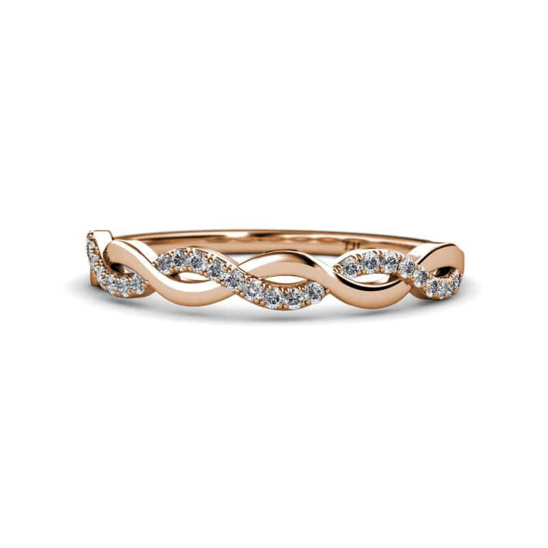 10e26472416 Diamond Infinity Womens Wedding Band Stackable 0.27 ctw 14K Rose Gold. More  Details. Be the first to write a review. 0 ...