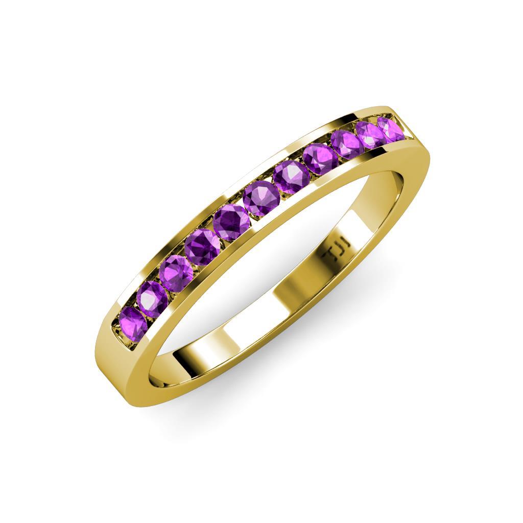 0 1 2 - Amethyst Wedding Ring