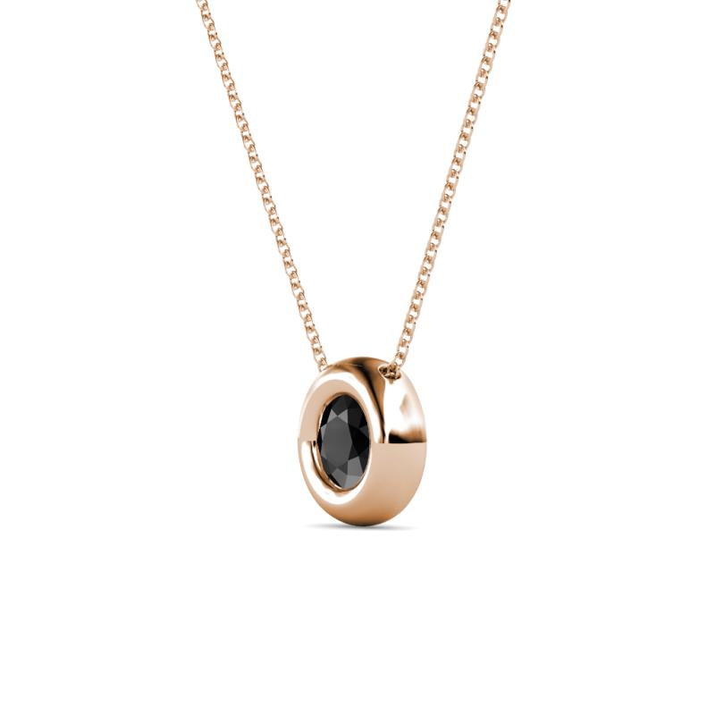 Black diamond bezel set solitaire pendant 050 ct in 14k rose gold 1122244 2402193 2402331 2402332 2147483647 mozeypictures Image collections