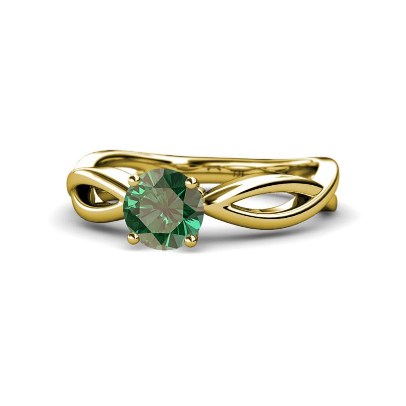 Created Alexandrite Infinity Womens Solitaire Engagement Ring 1 00