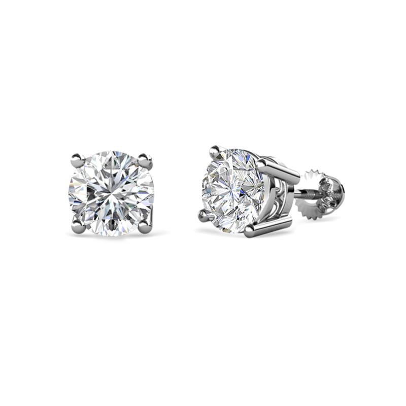 bc692751ef924 Diamond (5mm) Solitaire Stud Earrings