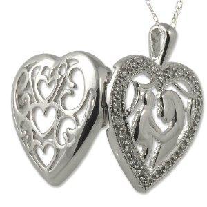 Diamond mother child heart pendant 025ct tw in 14k white gold 30974 30975 30976 2147483647 aloadofball Images