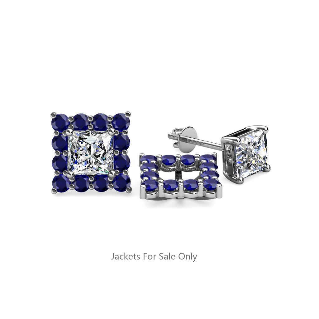 Blue Shire Jacket Earrings