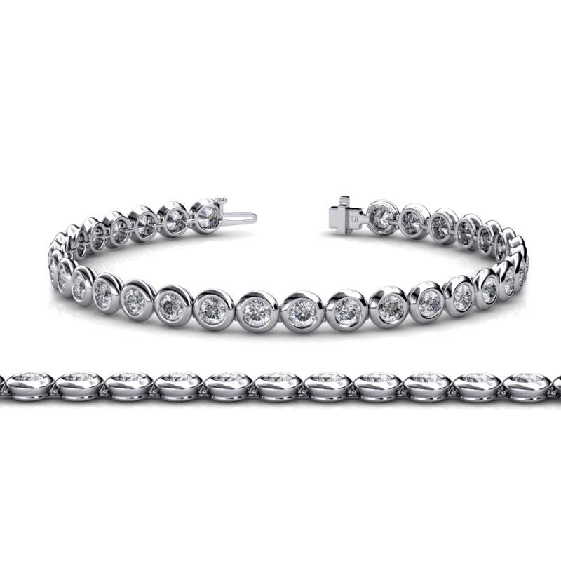 Diamond Bezel Set Tennis Bracelet Si2 I1 G H 5 12 Ct Tw