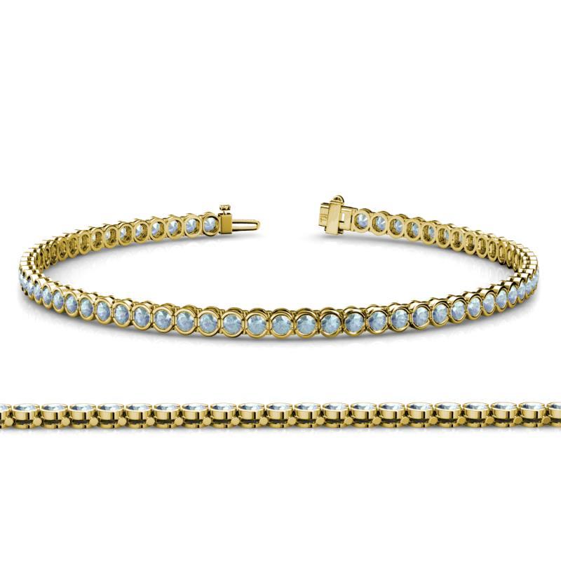 2 6mm Aquamarine Tennis Bracelet