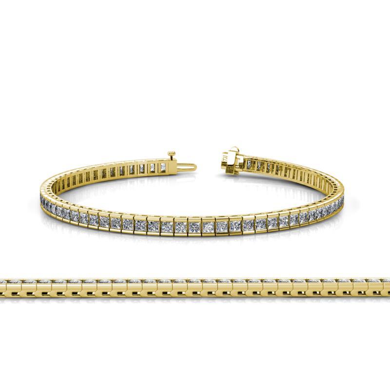 Zahra 2 25mm Diamond Tennis Bracelet Diamond Princess Cut