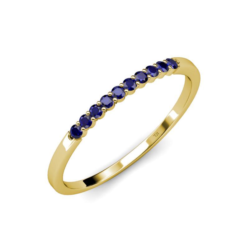 Clara 180 mm Blue Sapphire Wedding Band Blue Sapphire 10 Stone