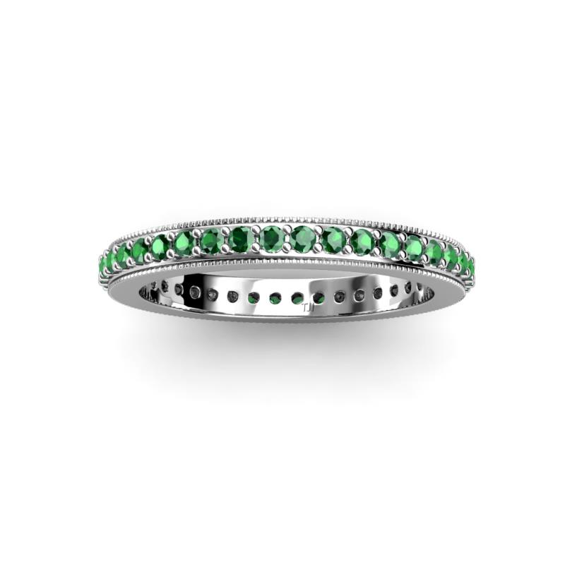 west nicole platinum east eternity band rose cut emerald bands