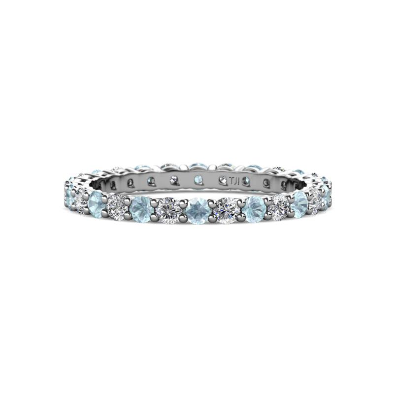 eternity gold mccalls brilliant bands white shop aquamarine products diamond aberdeen marquise diamonds ring band jewellery cut
