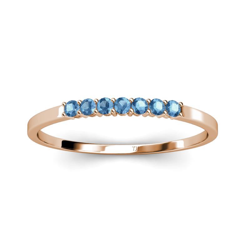 0 1 2 - Topaz Wedding Ring