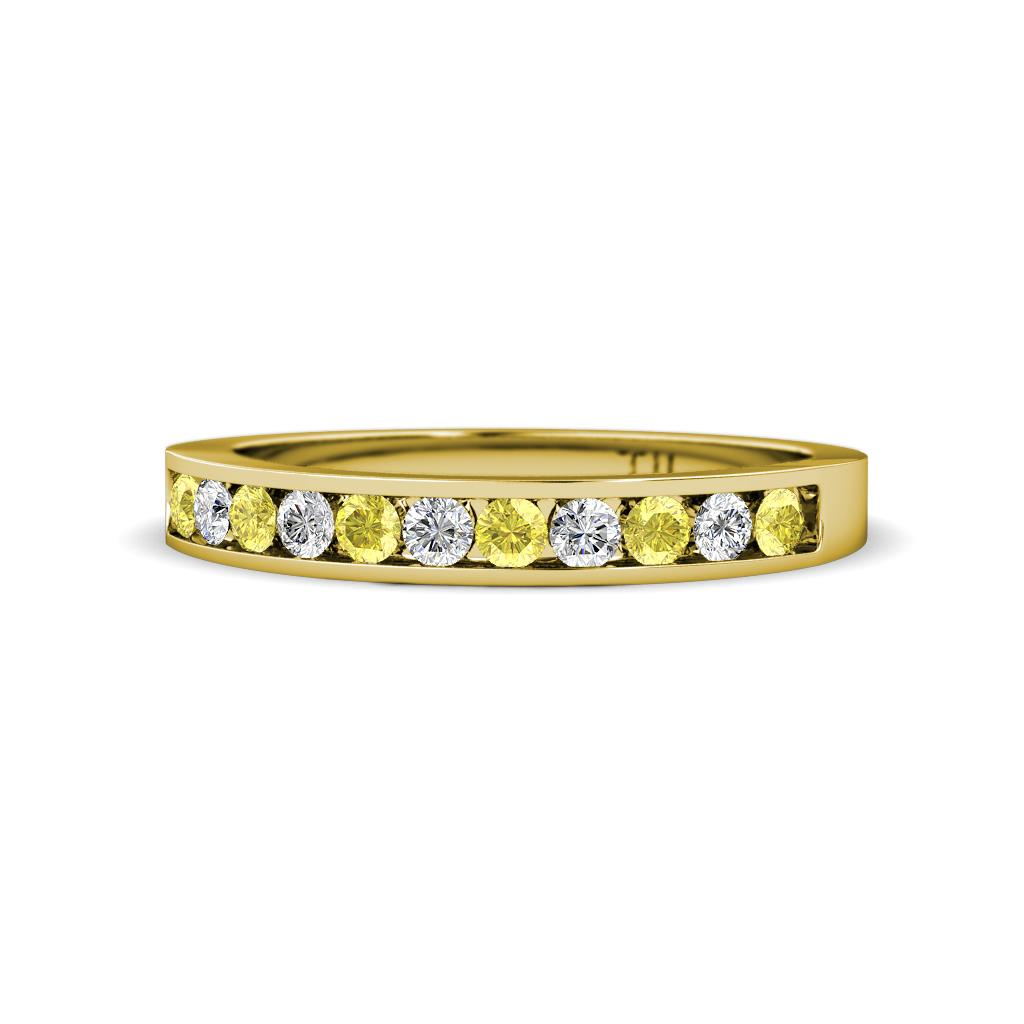 2 0 Mm Bands: Ryann 2.00 Mm Yellow Sapphire And Diamond Wedding Band
