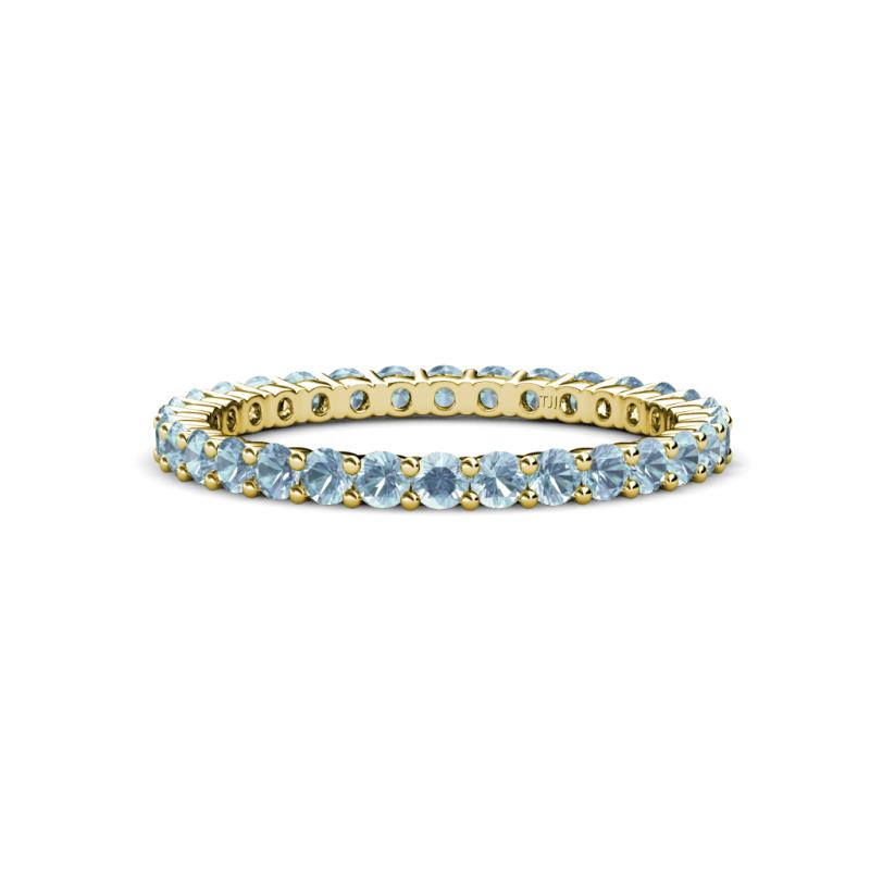 ring white band bands thin aquamarine eternity and jewelry with gold rich
