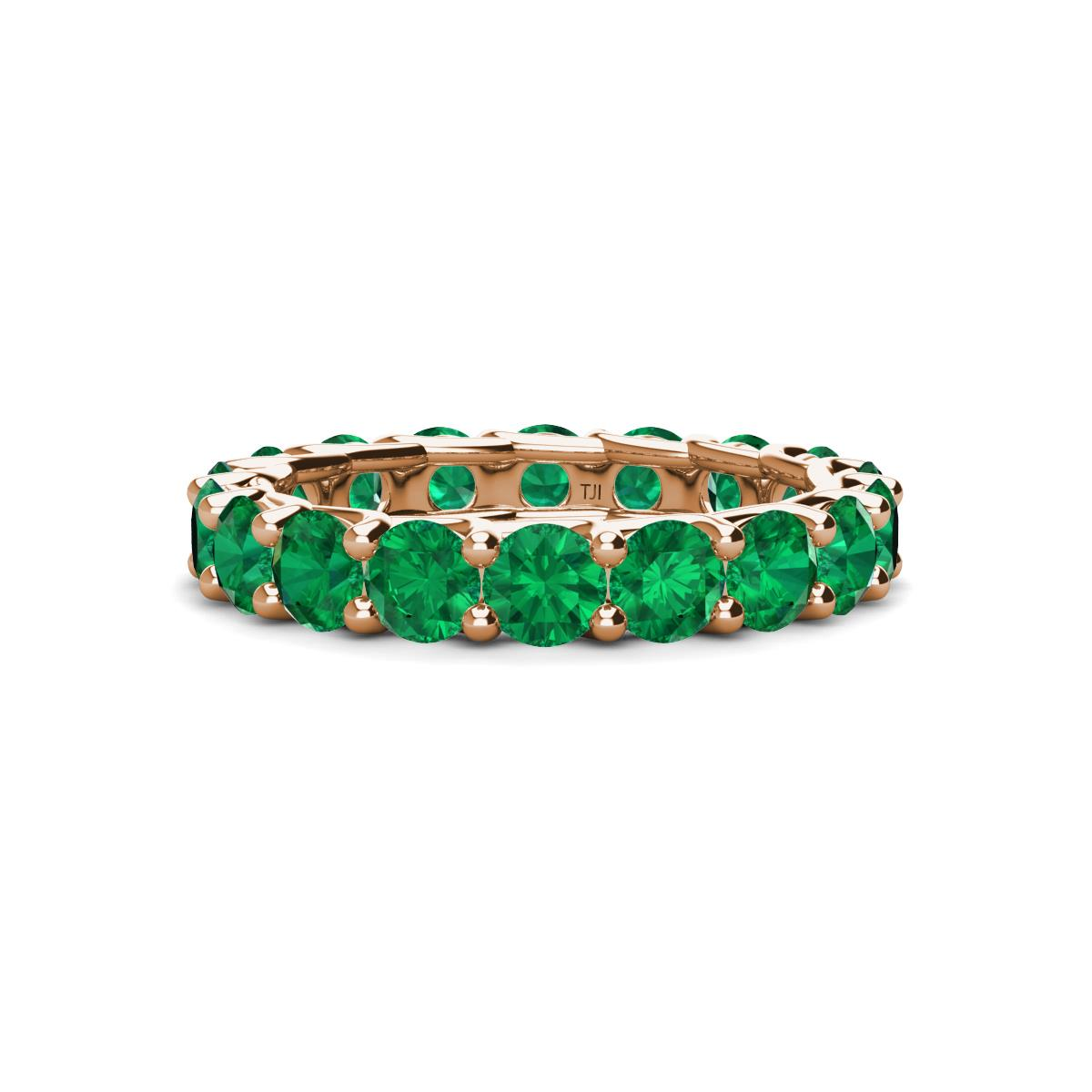 emerald floating tw gold k carat eternity yellow band jp in bands valerie