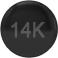 14K Black Gold