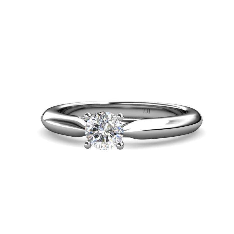 Akila Semi Mount Engagement Ring - Four Prong Semi Mount Solitaire Ring in Platinum.