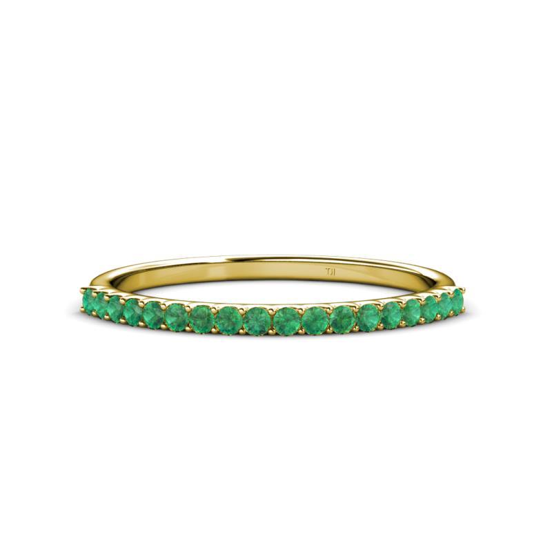 Emerald Wedding Band.1 50 Mm Emerald Wedding Band