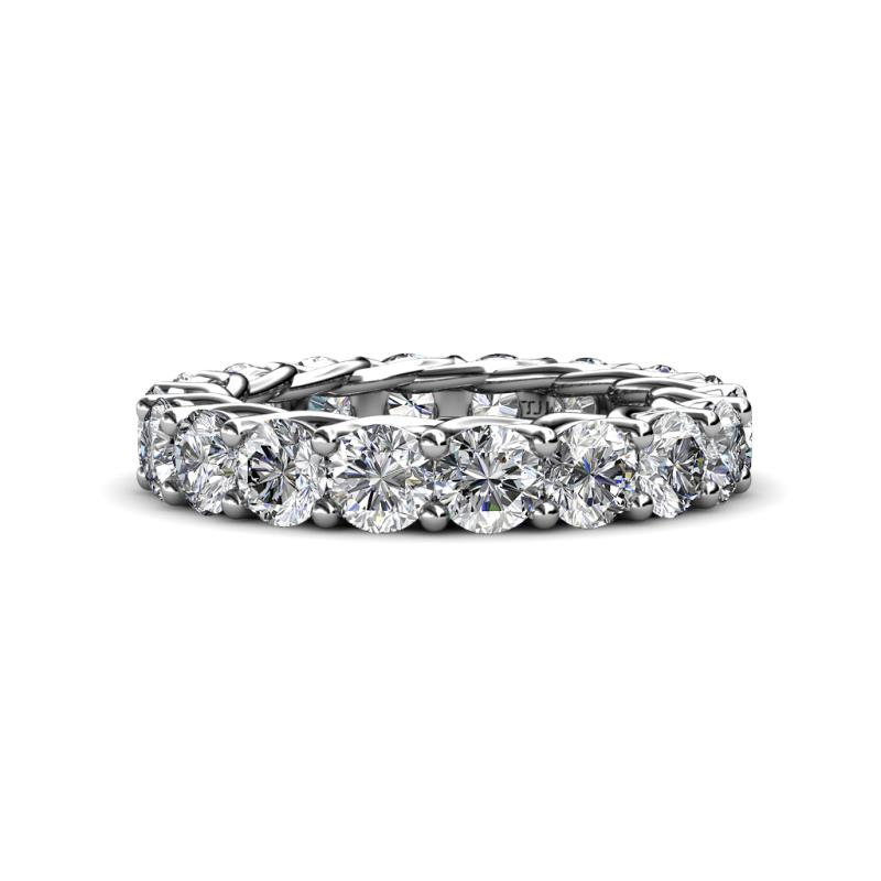 Lucida 4.20 mm Diamond Eternity Band - Diamond Gallery Womens Eternity Ring Stackable 5.1 ctw* 14K White Gold