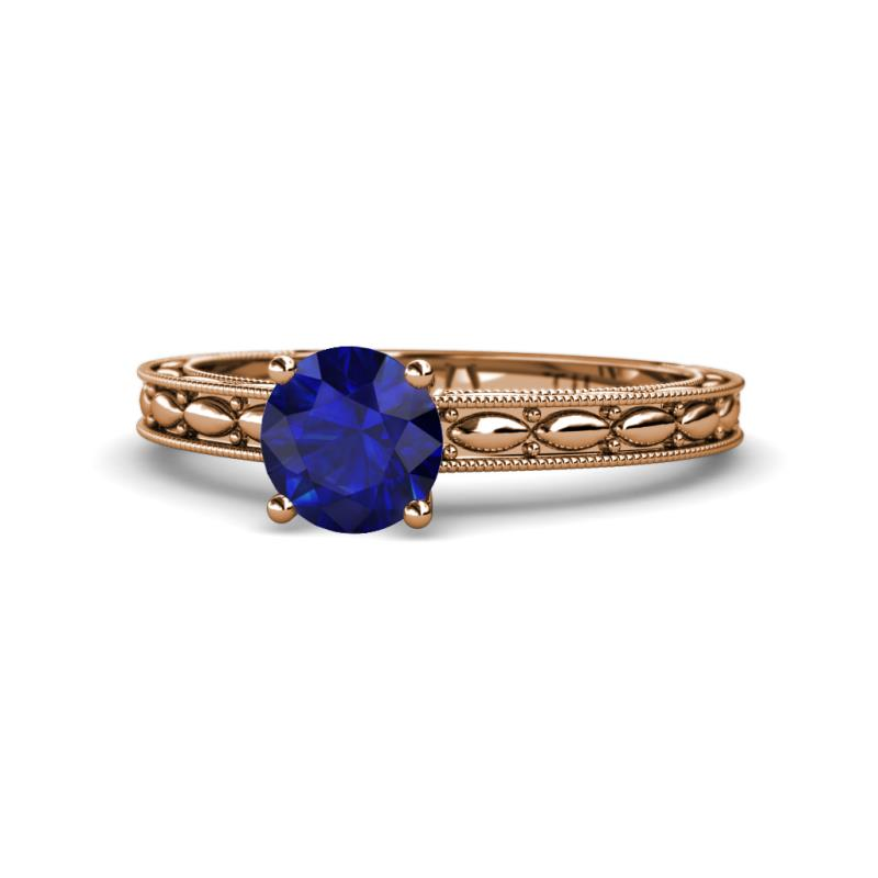Classic Blue Sapphire Solitaire Engagement Ring