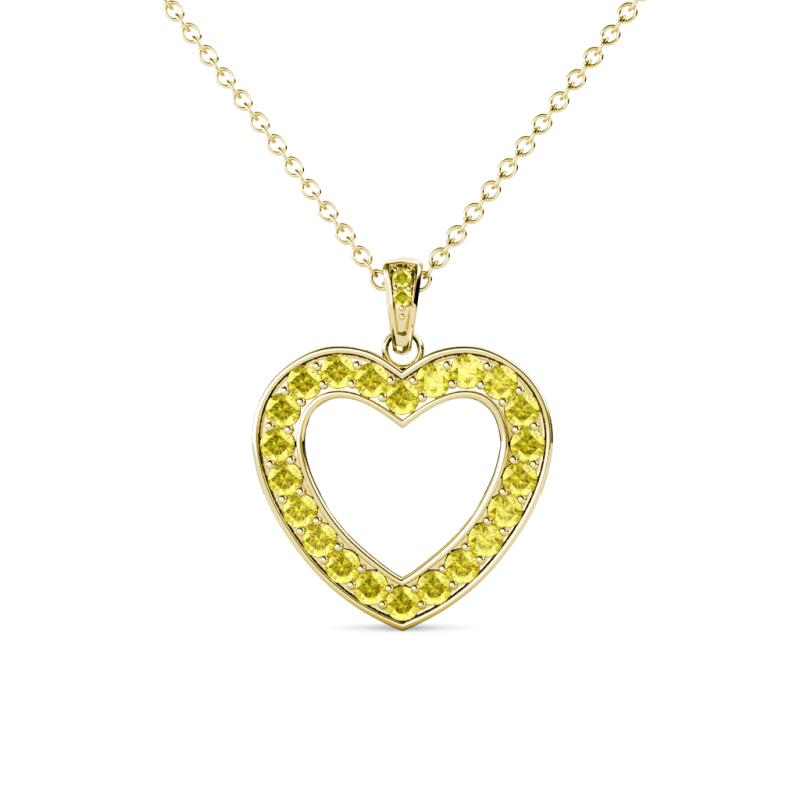 14k Yellow Gold Very Special Aunt Heart Charm Necklace