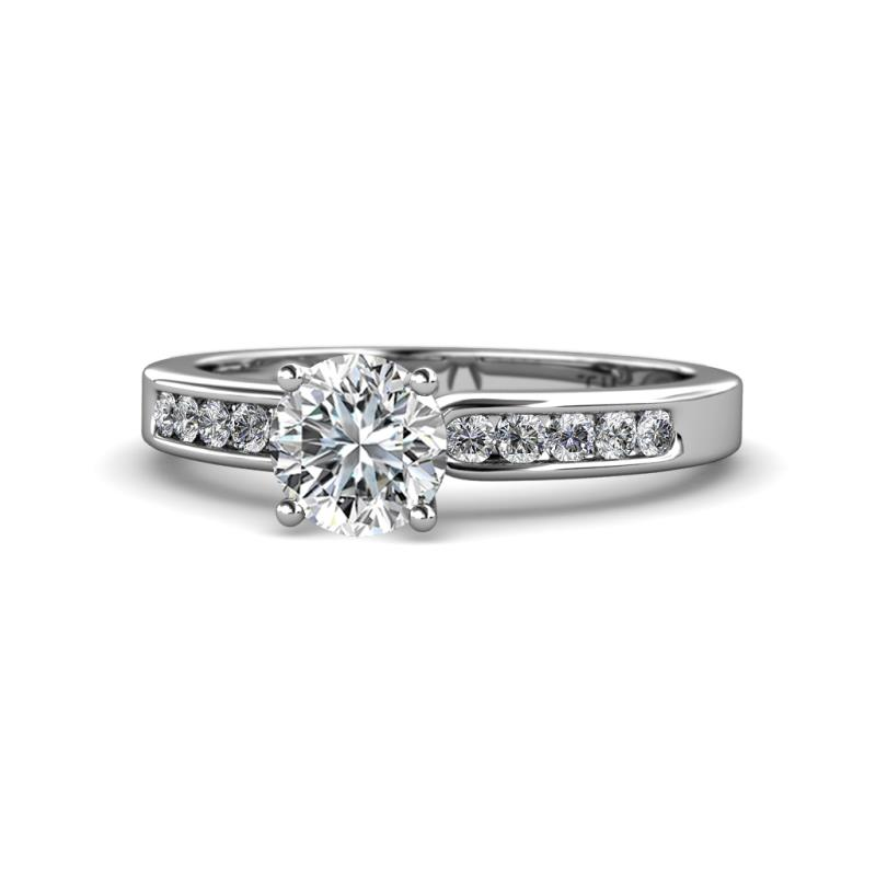 Enya Classic Diamond Engagement Ring - Diamond Engagement Ring 1.30 Carat tw in 14K White Gold.